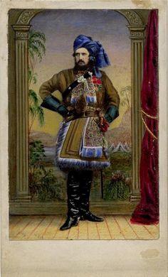 Fine h/col'd CDV: Sir Dighton Probyn, Victoria Cross winner. Indian Mutiny c1860