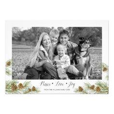 Peace Love Joy - Christmas Photo Card