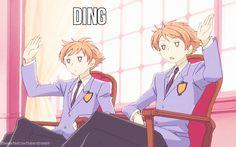 Hikaru & Kaoru OHSHC gif Ding dong wrong! o w o