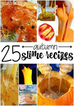 25 Fall Slime Ideas for Kids