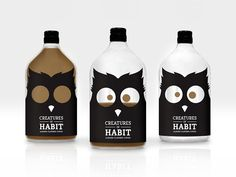 Creatures of Habit (café) | Design (projet étudiant)  : Trisha Tobias (Old Dominion University), Norfolk, Etats-Unis (mai 2015)
