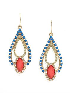 Talk about Turkish delight, these bazaar-inspired drops work a crafty boho vibe, courtesy for their brightly colored gems and Alhambra style design.