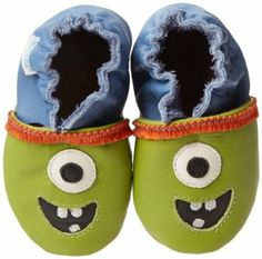 baby boy monster crib shoes