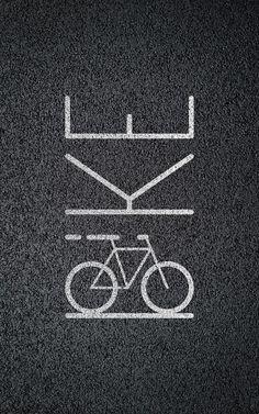 Bicycle Bikelane Pictotypography