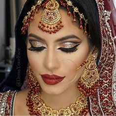 Absolutely love Indian wedding makeup More