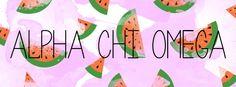 Geneologie | Greek Life | Sorority | Sisterhood | Freebie | Facebook Cover Photo | Watermelon | Fruit | Alpha Chi Omega | AChiO | Free Download