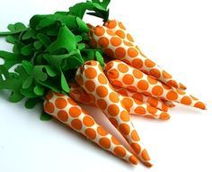 felt and fabric carrots