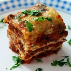 World's best lasagna recipe... My lasagne is pretty good and my family said not to change it at all; but this is worth a try!