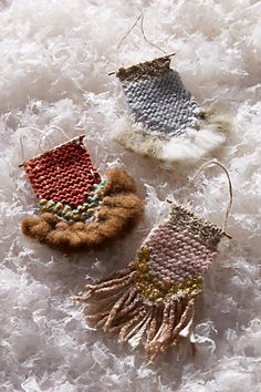 Woven loom ornaments by All Roads Design for Anthropologie - must have pink…