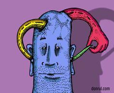 Hay gente a la que las palabras les entra por un oído y les sale por el otro.