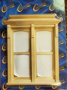 Dollhouse Miniature Yorktown Double Window, non working 1:12 #ClassicsbyHandley