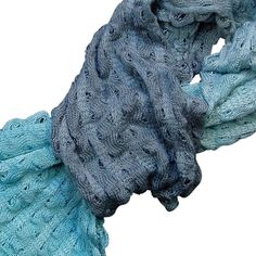 Knitted hand painted silk scarves for women who love beautiful colours and soft stylish knitwear   I hand-paint these scarves, after knitting, to achieve the beautiful colour graduations. They are soft and lightweight, and no two are ever quite alike.   B