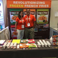 Veggie Fries founders Dave & Cristina Peters at Expo West