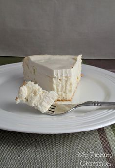 This is exactly what cheesecake should be. A light crust with a creamy layer of cheesecake and a slightly tart crust. I could eat this all day every day and not get tired of it!