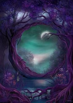 Moon Man Tree  ( Large Picture ) ... Purple