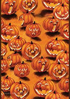 Toland Garden Flag Jack-O-Lanterns In The Dark 12.5 x 18 in. NEW Halloween