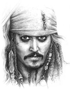 Jack Sparrow by DocJonesDesign on Etsy Jack Sparrow Dibujo, Jack Sparrow Drawing, Jack Sparrow Tattoos, Sparrow Art, Portrait Sketches, Art Drawings Sketches Simple, Pencil Art Drawings, Pencil Portrait, Jack Sparrow Wallpaper