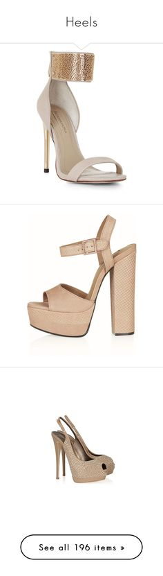 """Heels"" by harrysgurl12 ❤ liked on Polyvore featuring shoes, sandals, heels, parfait, platform sandals, platform heel sandals, embellished sandals, leather platform sandals, strappy platform sandals and sapatos"