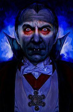 Bela Lugosi as Dracula. Horror Vintage, Retro Horror, Horror Icons, Halloween Horror, Halloween Art, Arte Punk, Horror Artwork, Horror Monsters, Vampires And Werewolves