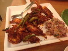 Homemade prawns fry of Paragon,Calicut