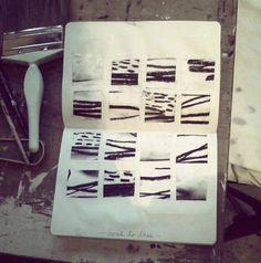Notebook of Karine Léger. A nod to her initial inspiration. #art #sketchbook