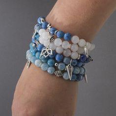 Blue Me Away Bracelets | Fusion Beads Inspiration Gallery