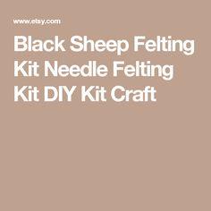 Black Sheep Felting Kit  Needle Felting Kit  DIY Kit  Craft