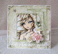 Inky Angel - lovely layout and colours. I could never colour like this.