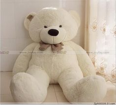 Teddy bear http://www.joyfay.com/us/giant-huge-63-white-teddy-bear-stuffed-plush-animal.html