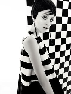 Op art 1960's fashion revisited by Christian Dior in 2013
