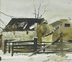 Andrew Wyeth Watercolor Paintings | Andrew Wyeth