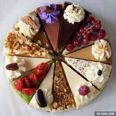 12 Variety Slices of Cheesecake