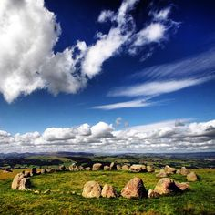 Stone circle cloud magic in Wales.  By arianlevanaelphotography