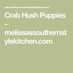 Crab Hush Puppies - melissassouthernstylekitchen.com
