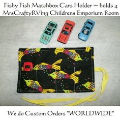 Fishy Fish MatchBox Car Roll Party Favor by MrsCraftyRVing on Etsy, $3.00 #favors #cars #boys