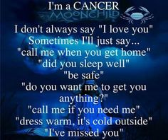 I'm a Cancer, sometimes the way that I express my love is mistaken as controlling. But that's just not the case!