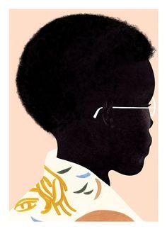 VO | Valérie Oualid : Agent d'illustrateurs | Léa Morichon | Expo Sergeant Paper Artist Signatures, Illustrations, Visual Communication, Pigment Ink, Make Art, Pretty Art, Black People, Fine Art Paper, Les Oeuvres