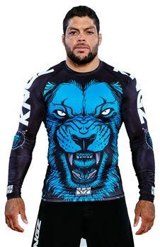 Kingz Royal Lion Rash Guard by Meerkatsu - Retail Version - Long Sleeve Sweat Shirt, Martial Arts Gear, Sports Jersey Design, Fight Wear, Mma Gear, Mma Fighting, Ju Jitsu, Brazilian Jiu Jitsu, Rash Guard