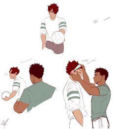 Oikawa Tooru x Iwaizumi Hajime / Haikyuu! Haikyuu Manga, Haikyuu Fanart, Haikyuu Ships, Haikyuu Funny, Oikawa X Iwaizumi, Iwaoi, Haikyuu Volleyball, Volleyball Anime, Cute Kiss