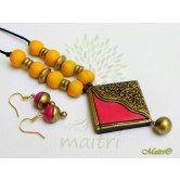 handmade-terracotta-jewelry-tsc222  Maitri Crafts www.maitricrafts.com https://www.facebook.com/maitricrafts.maitri