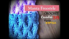 PUNTO ESPIGA a crochet - cuadro 38 manta FREESTYLE (diestro)