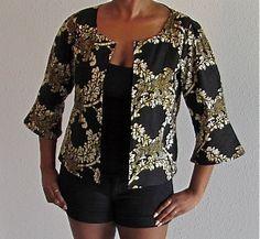 African Print Summer Jacket by ifenkili on Etsy, $25.00