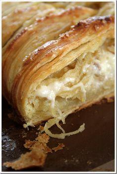 White Chocolate Cream Cheese Danish Braid with Tart Apples  Walnuts via @doughmesstic