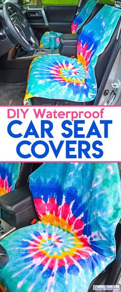 DIY Waterproof Seat Cover Sewing Tutorial - Need to protect your car seats from wet or dirty summer bodies? Make this easy waterproof seat cover to protect your car's upholstery. Waterproof Car Seat Covers, Diy Seat Covers, Car Covers, Garniture Automobile, Baby Clothes Quilt, Diy Clothes, Car Seat Protector, Dog Car Seats, Diy Baby Gifts
