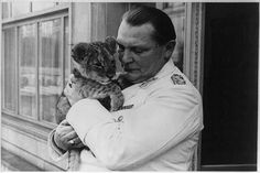 Hermann Göring and a tiger cub from his private zoo.  During the height of the war, when Germany was in the throes of food shortages and severe rationing, the food used to feed his animals was said to be enough to feed an entire village for days.