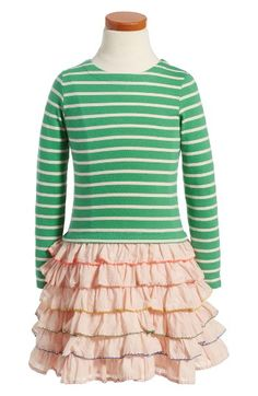 Free shipping and returns on Mini Boden Stripe Ruffle Dress (Toddler Girls, Little Girls & Big Girls) at Nordstrom.com. Classic stripes and dainty daisies interplay on this casually cute dress with ruffly tiers adding on-trend volume to the skirt.
