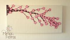 https://flic.kr/p/ehSmrs | Quadro para o quarto da Beatriz | Esse quadro a mamãe da Beatriz pediu para enfeitar a parede do quartinho. Tema flores de Cerejeira