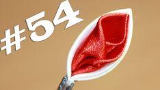 Все лепестки канзаши #54 / Бутон в остром лепестке канзаши