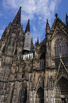 The enormous Gothic cathedral of Cologne, Germany.