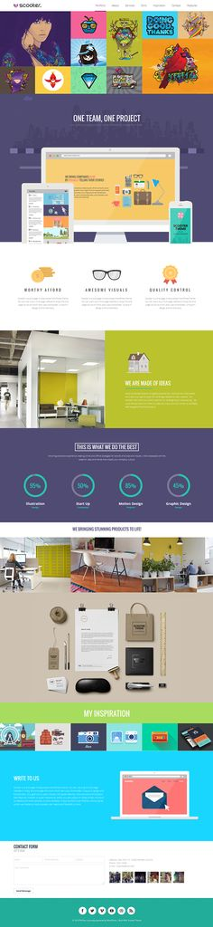 Scooter - One Page Multi-Purpose Theme by Themes Awards, via Behance